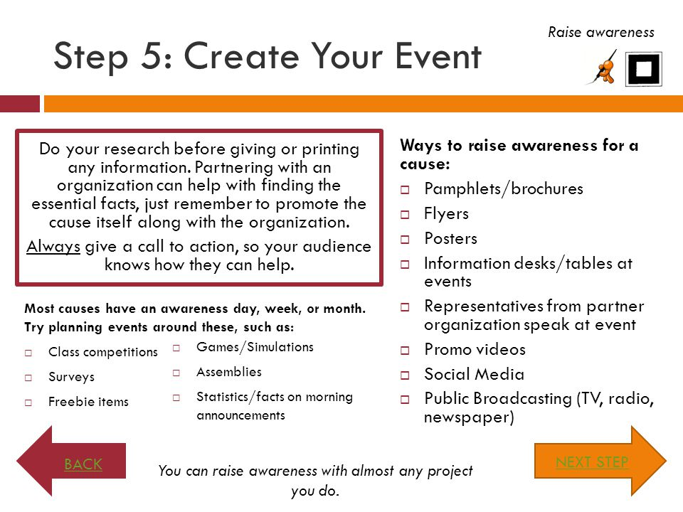 Step 5: Create Your Event