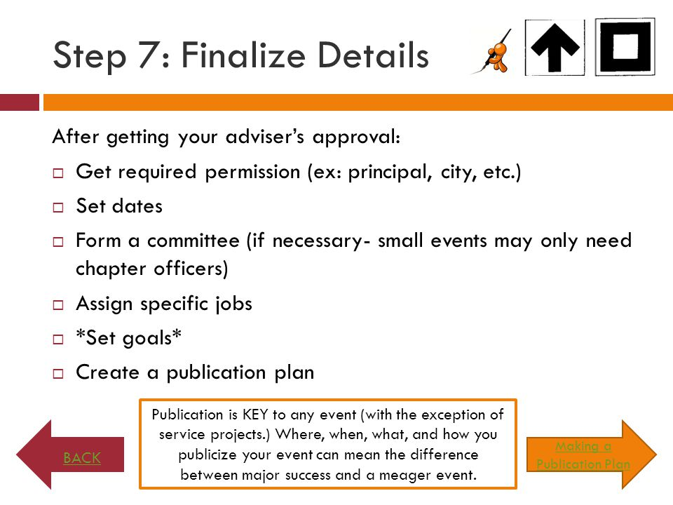 Step 7: Finalize Details