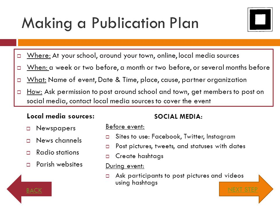 Making a Publication Plan