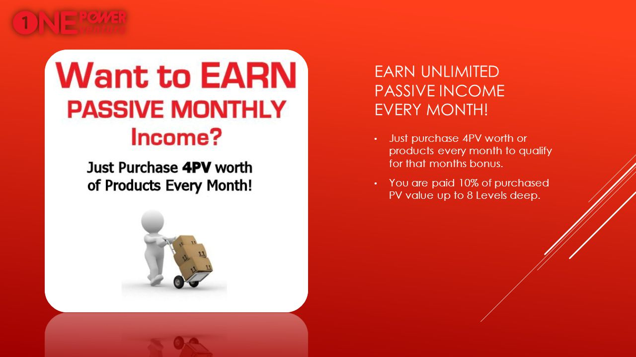 Earn unlimited passive income every month!