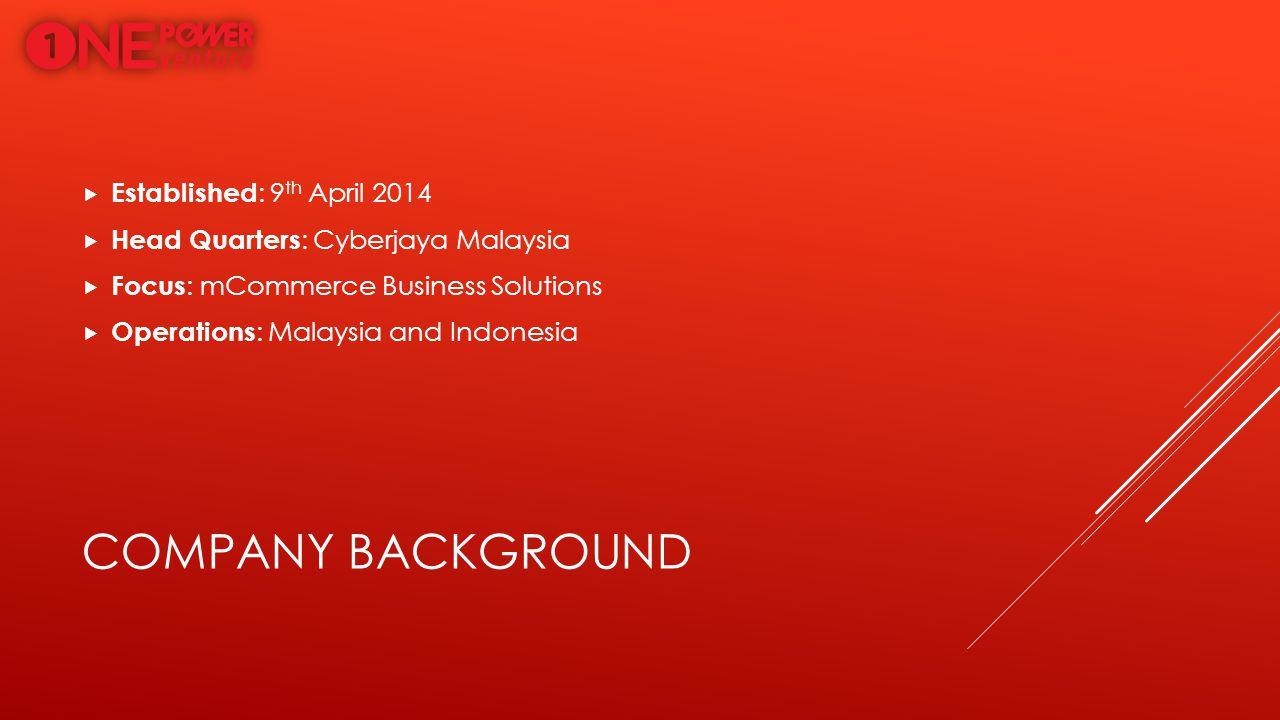 Company background Established: 9th April 2014