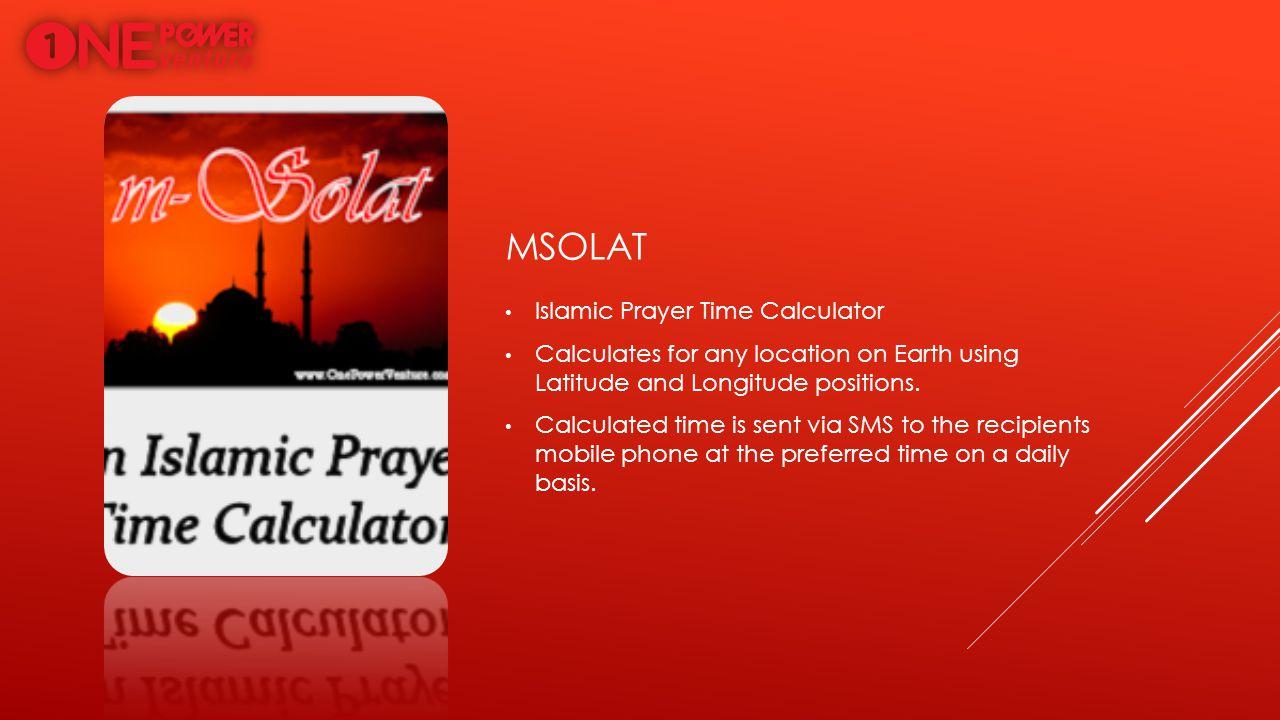 mSolat Islamic Prayer Time Calculator