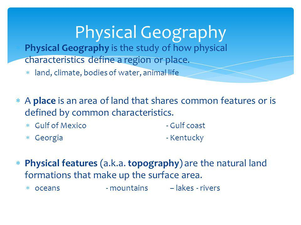 river physical characteristics structure and how
