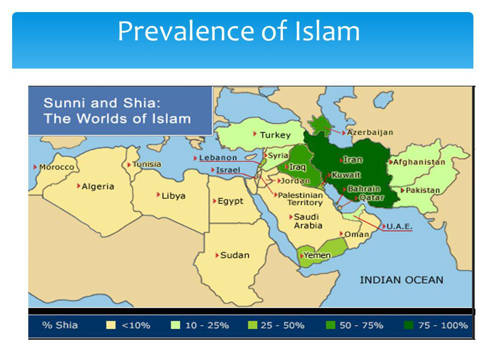 Prevalence of Islam