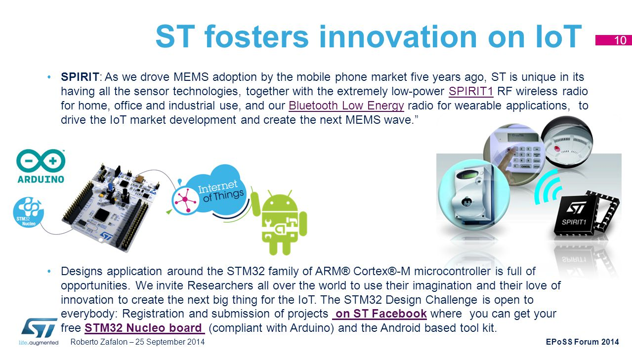 ST fosters innovation on IoT