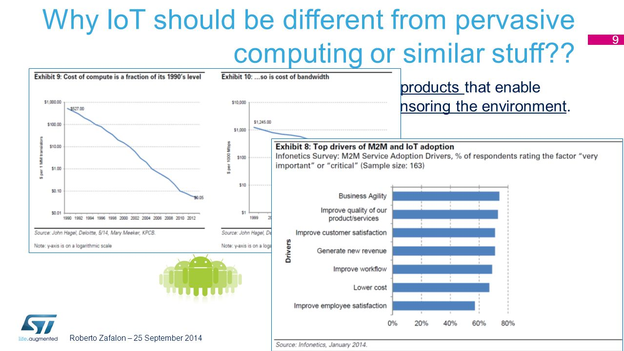 Why IoT should be different from pervasive computing or similar stuff