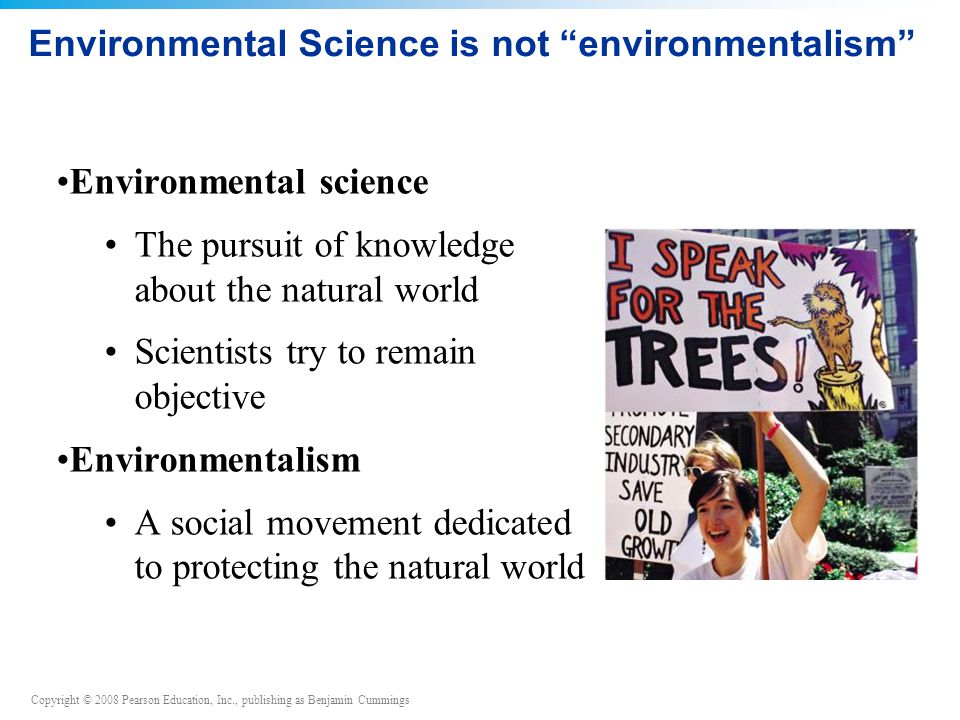 Environmental Science is not environmentalism