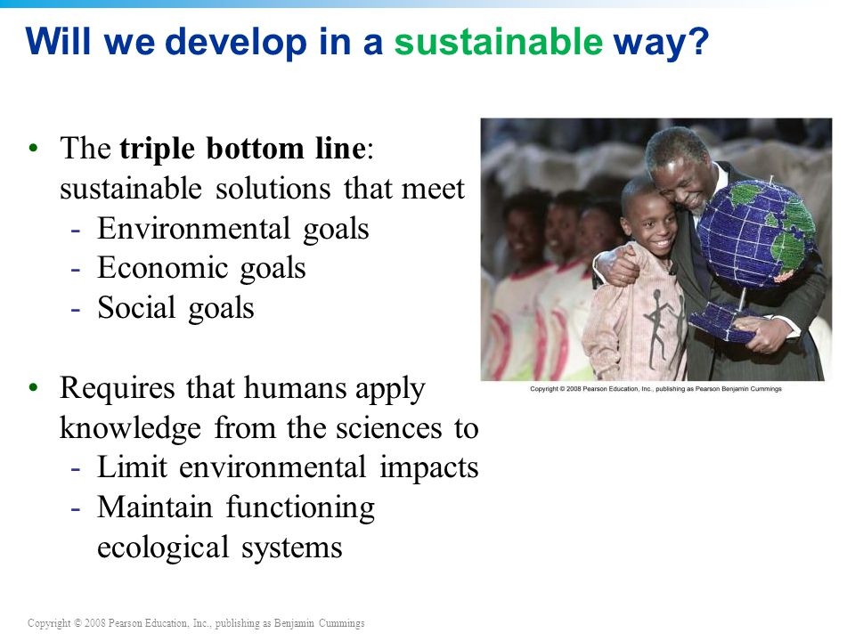 Will we develop in a sustainable way