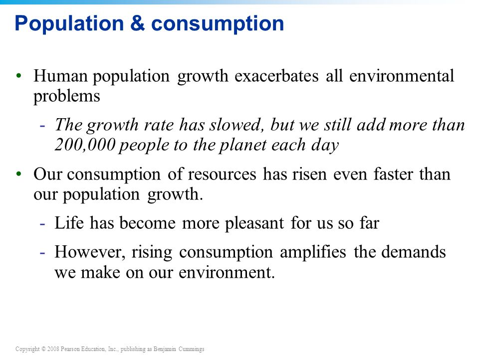 Population & consumption