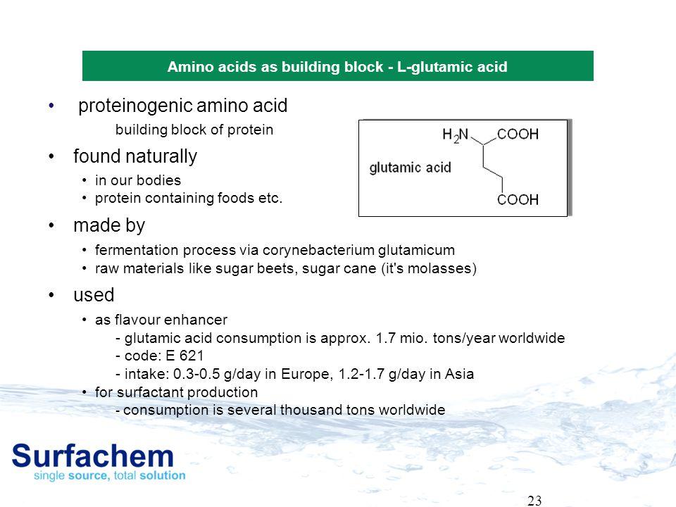 Amino acids as building block - L-glutamic acid
