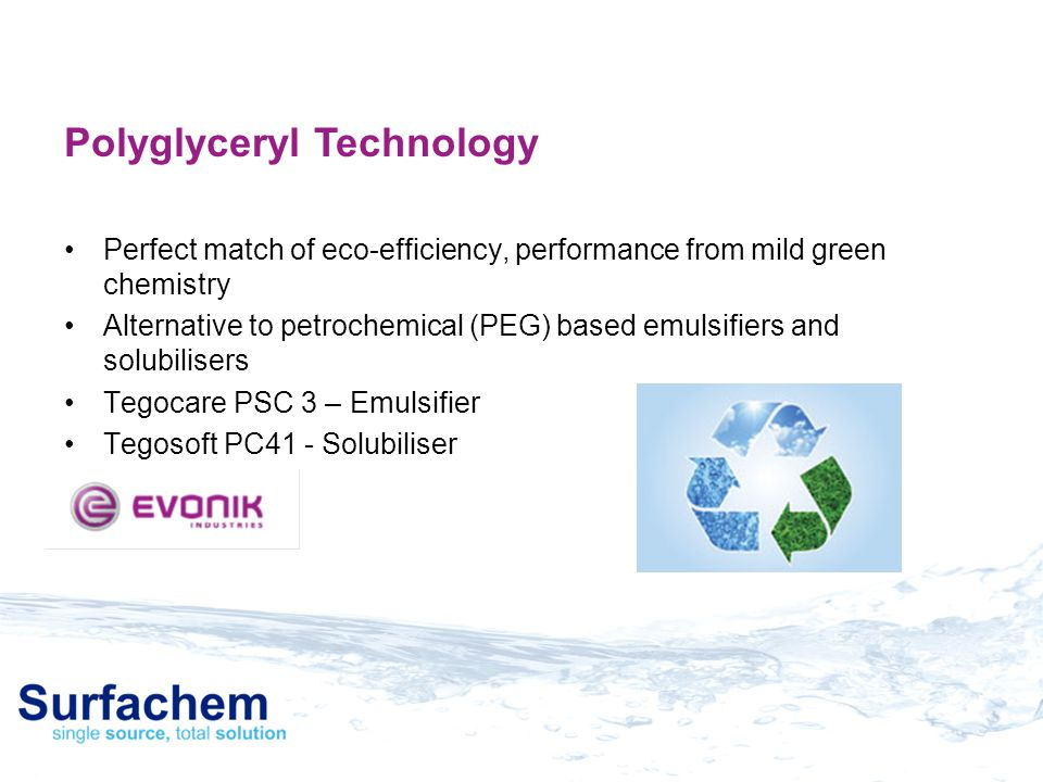 Polyglyceryl Technology