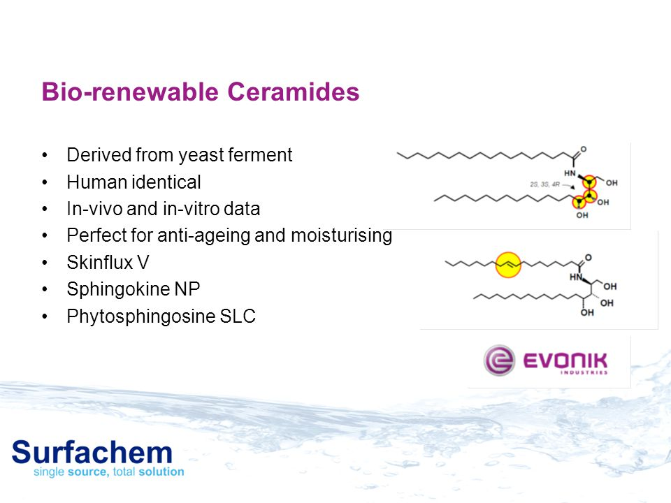 Bio-renewable Ceramides