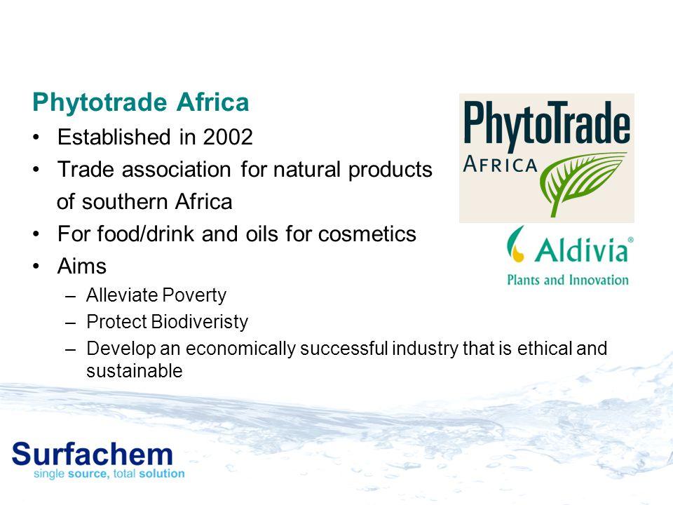 Phytotrade Africa Established in 2002