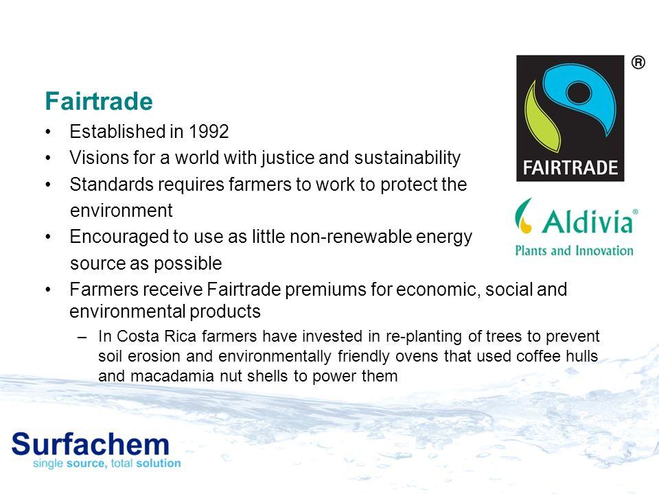 Fairtrade Established in 1992