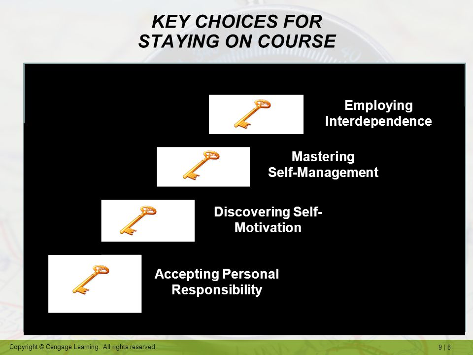 KEY CHOICES FOR STAYING ON COURSE