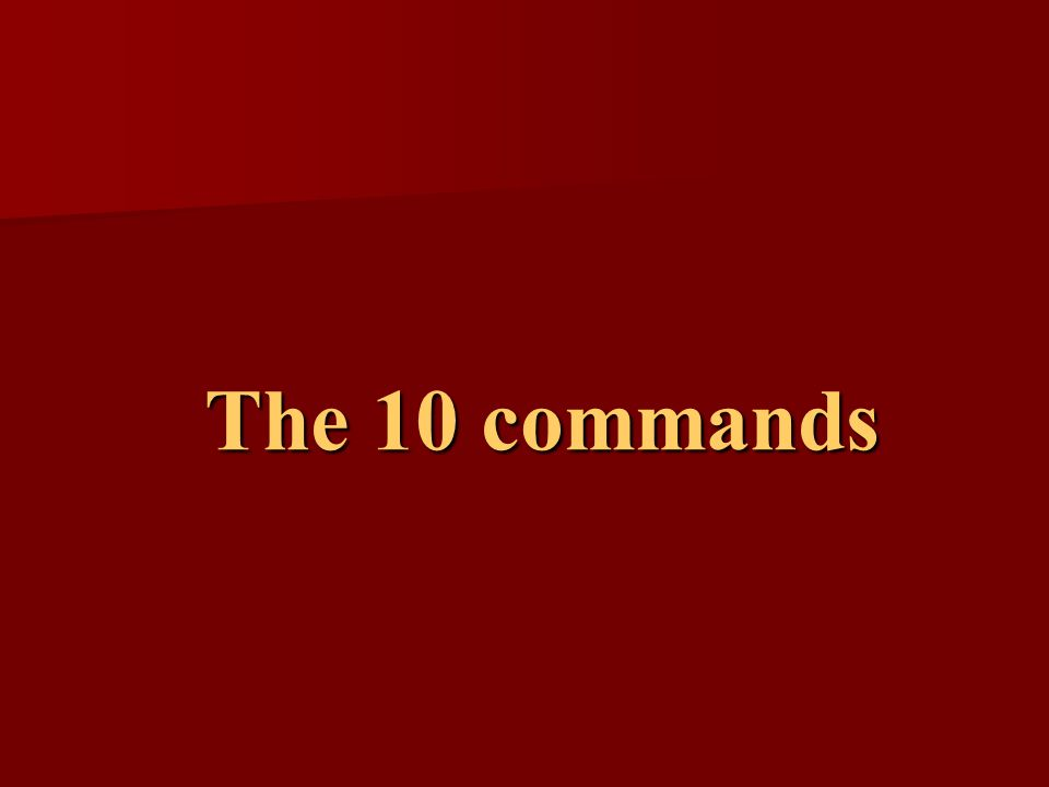 The 10 commands