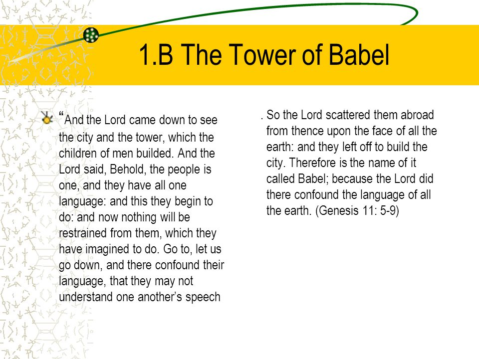 1.B The Tower of Babel
