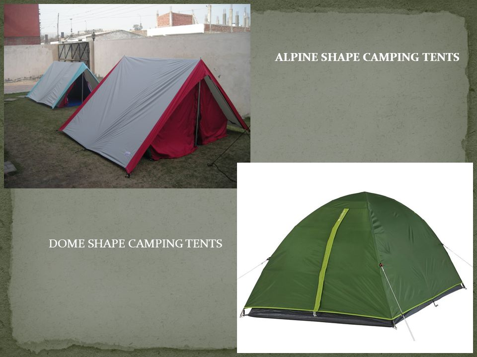 ALPINE SHAPE CAMPING TENTS