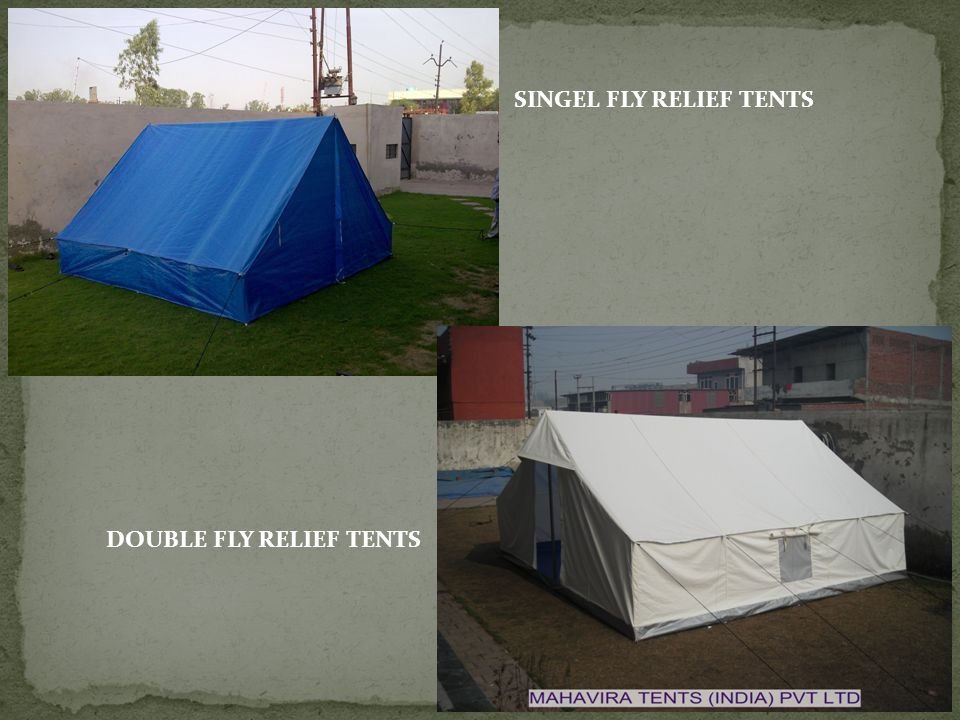 SINGEL FLY RELIEF TENTS