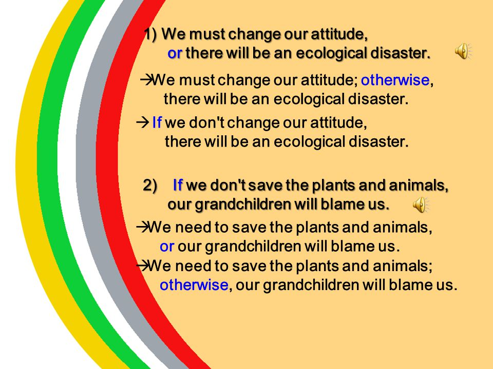We must change our attitude,
