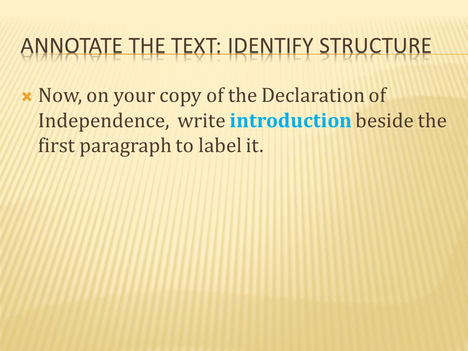 Annotate the text: identify structure