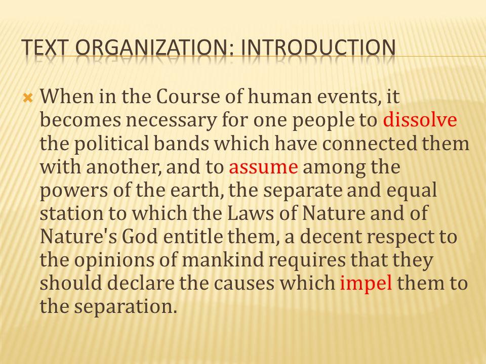 Text Organization: Introduction