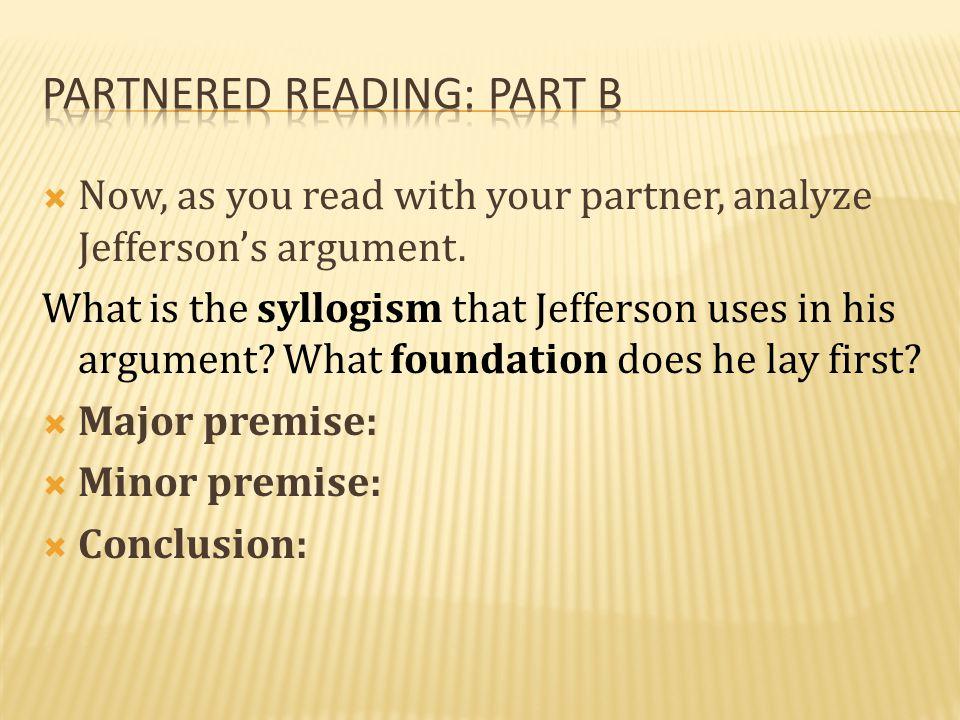 Partnered reading: Part b