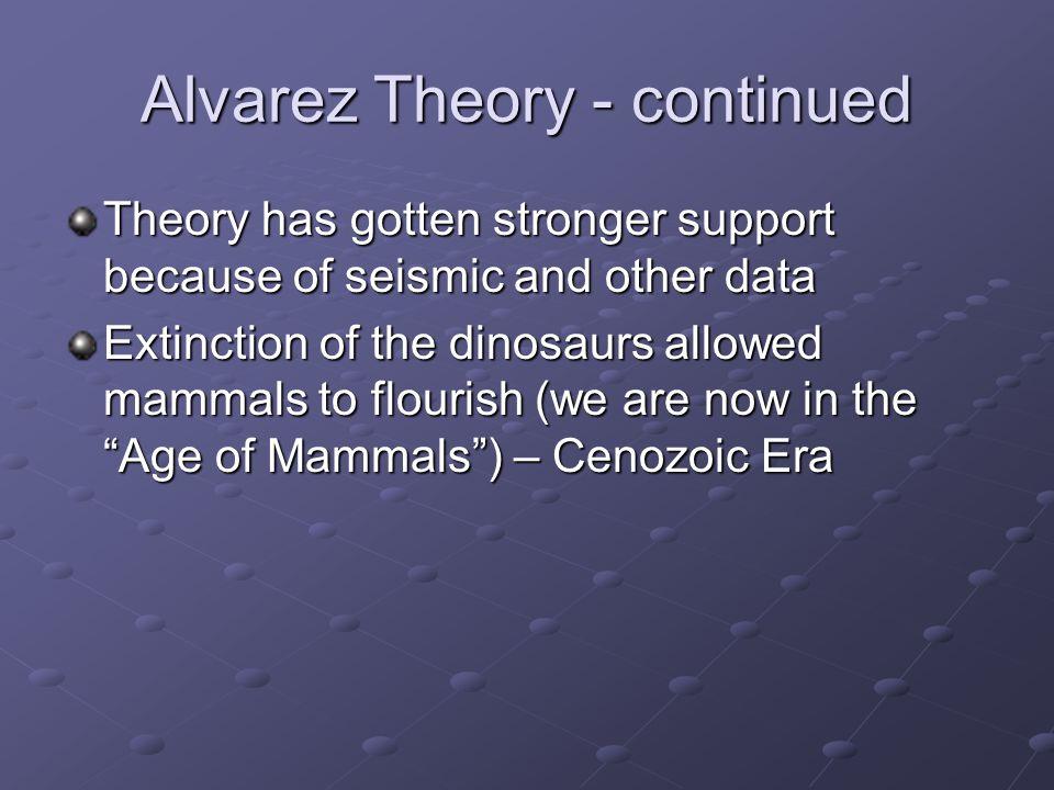 Alvarez Theory - continued