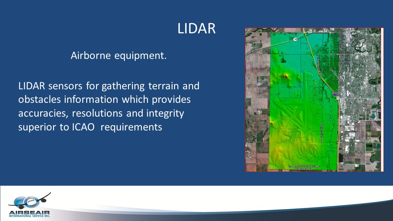 LIDAR Airborne equipment.