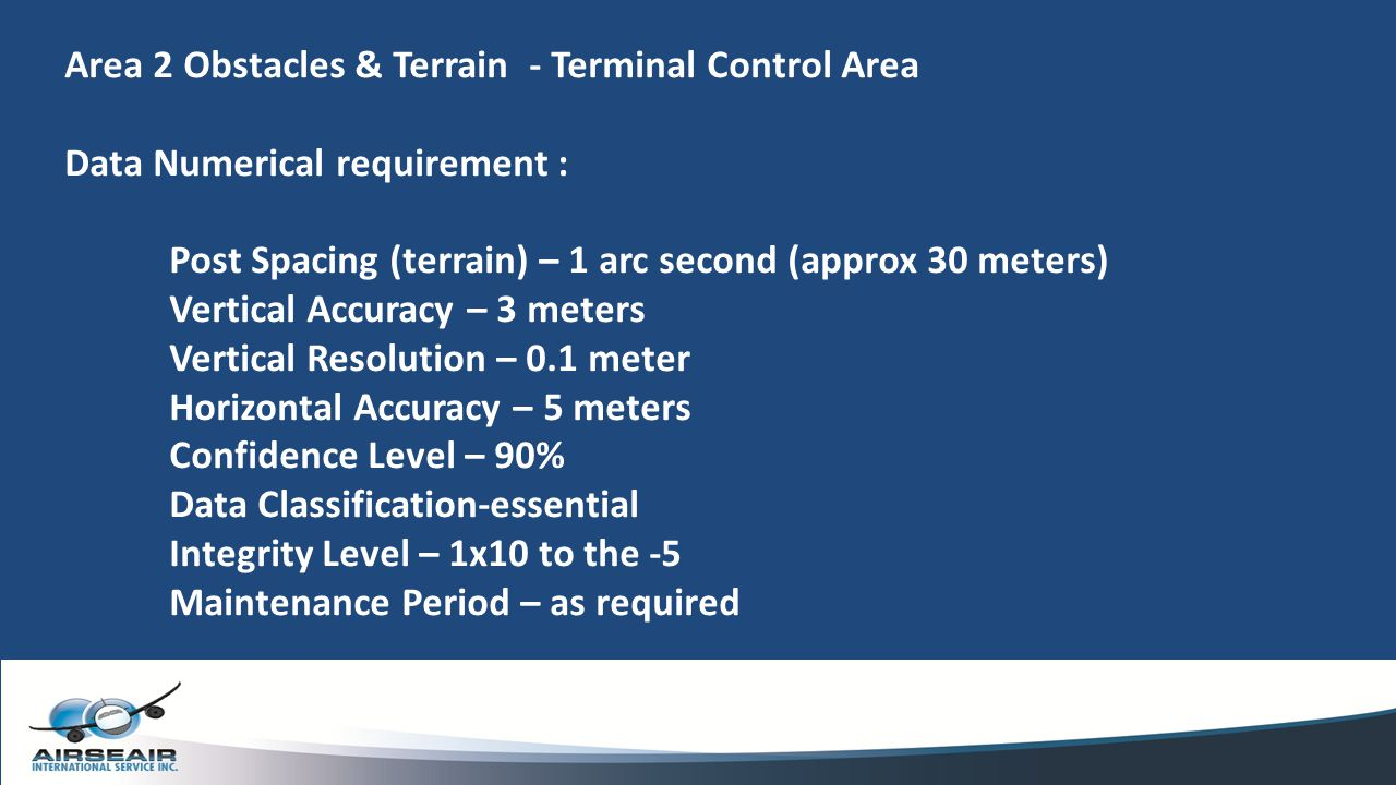 Area 2 Obstacles & Terrain - Terminal Control Area
