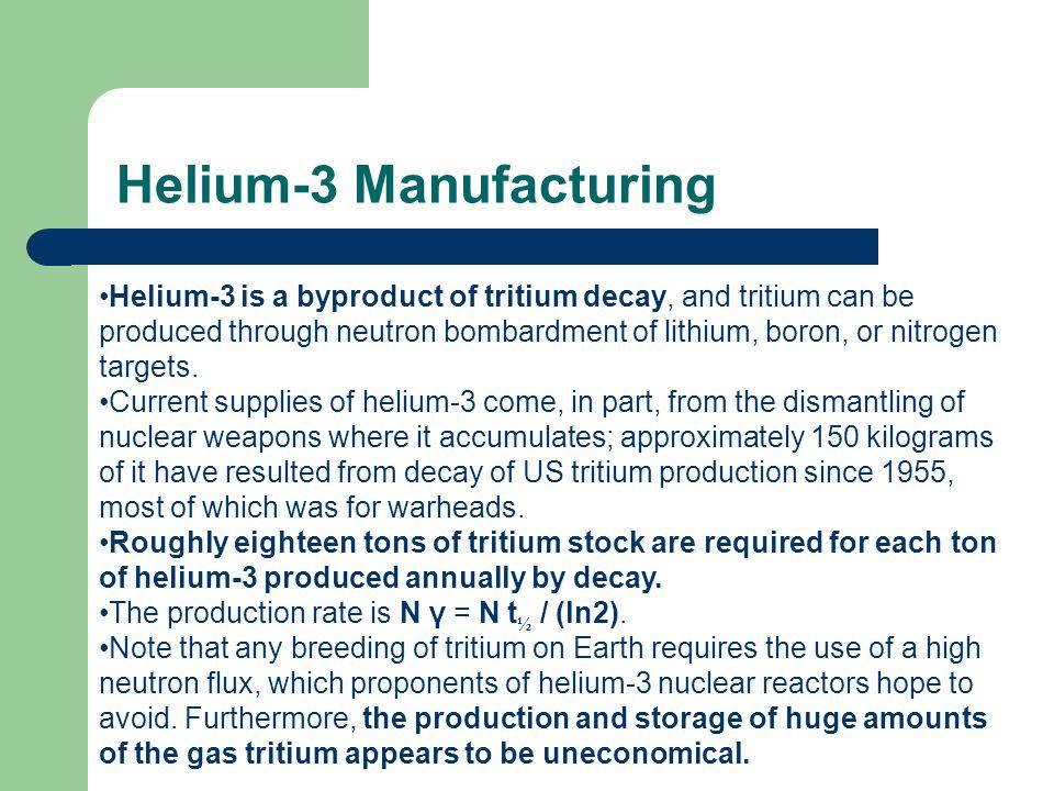 Helium-3 Manufacturing
