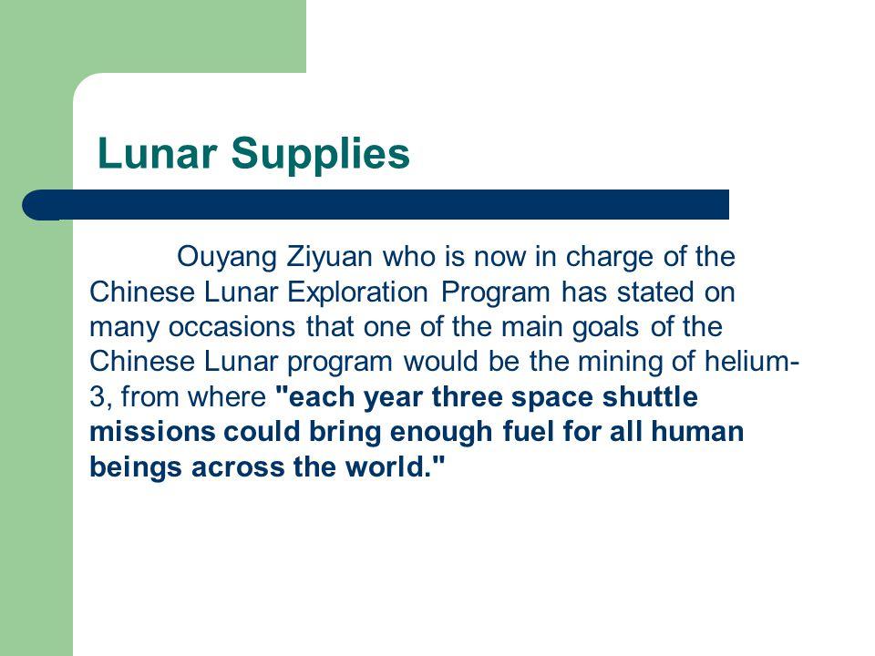 Lunar Supplies