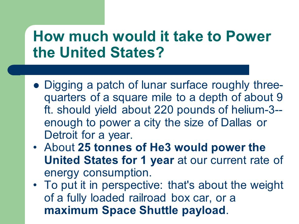 How much would it take to Power the United States