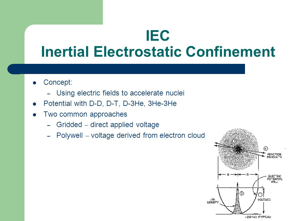 IEC Inertial Electrostatic Confinement