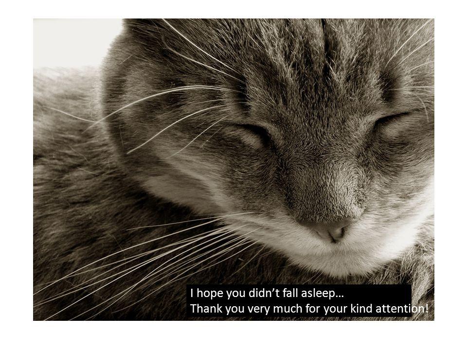 I hope you didn't fall asleep…
