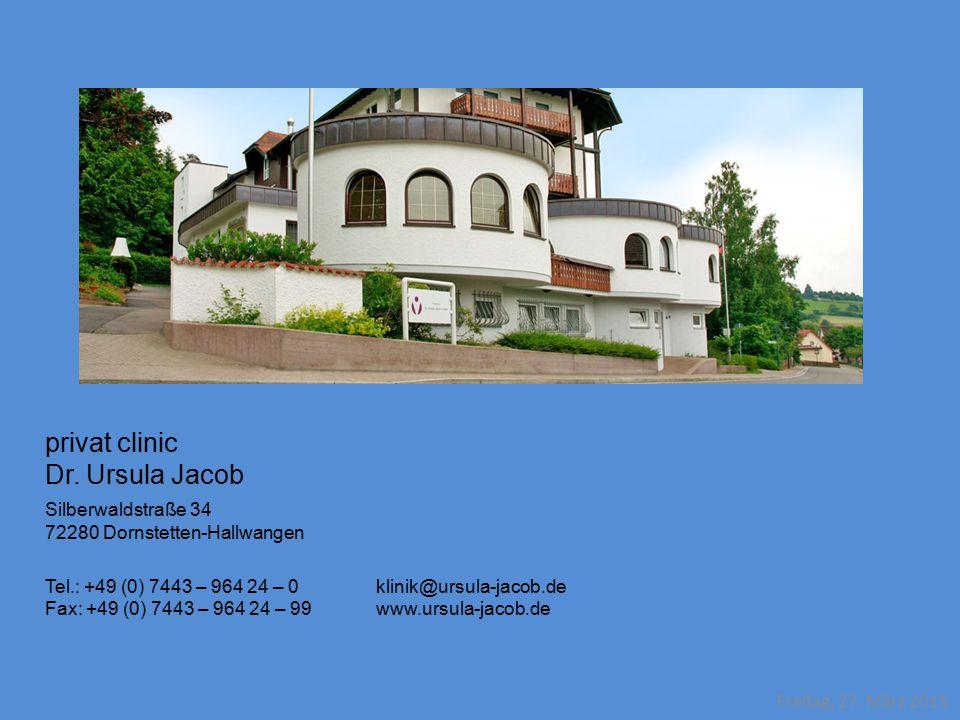 privat clinic Dr. Ursula Jacob Silberwaldstraße 34
