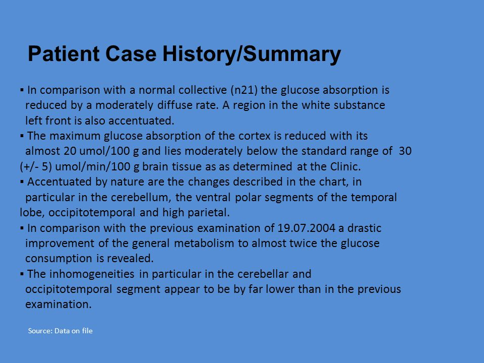 Patient Case History/Summary