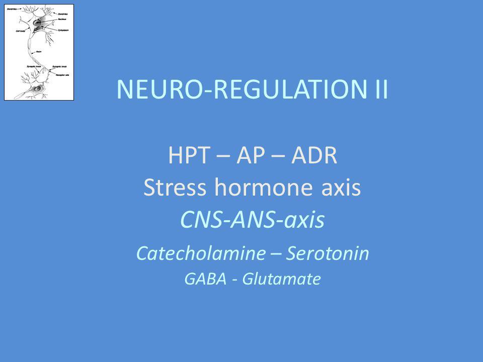 Catecholamine – Serotonin