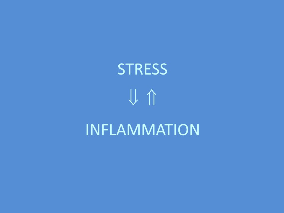 STRESS   INFLAMMATION