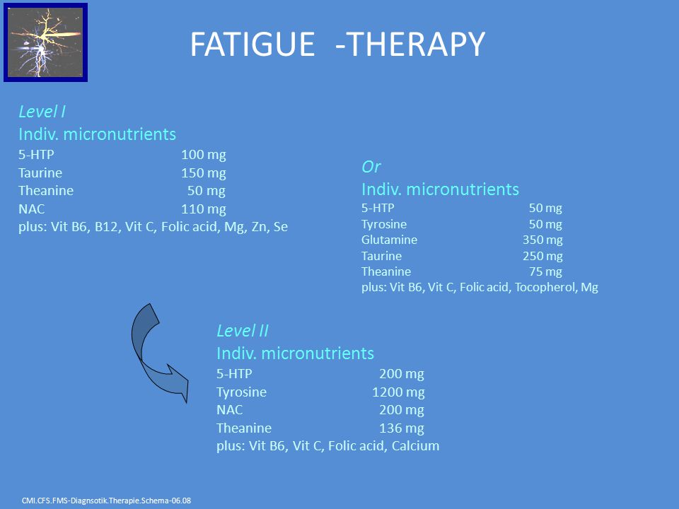 FATIGUE -THERAPY Level I Indiv. micronutrients Or