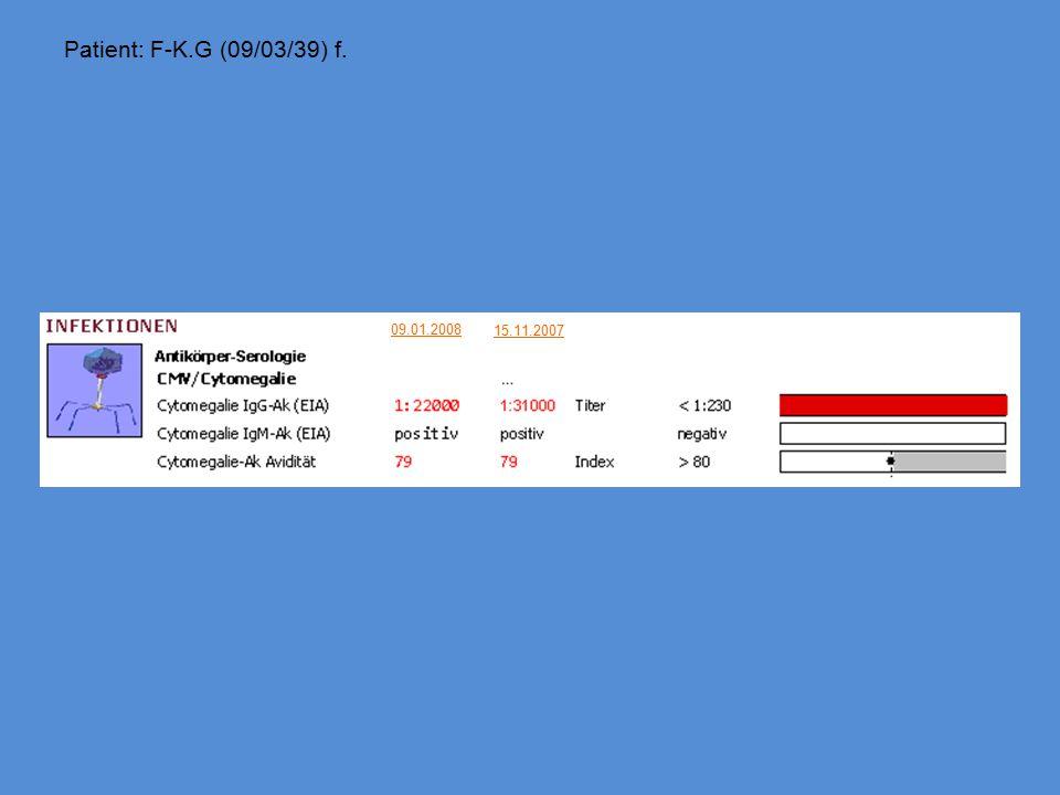 Patient: F-K.G (09/03/39) f. 09.01.2008 15.11.2007
