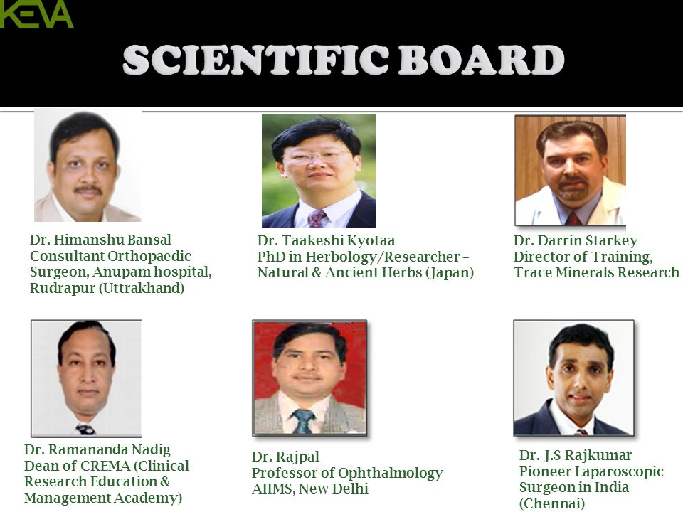 SCIENTIFIC BOARD Dr. Himanshu Bansal