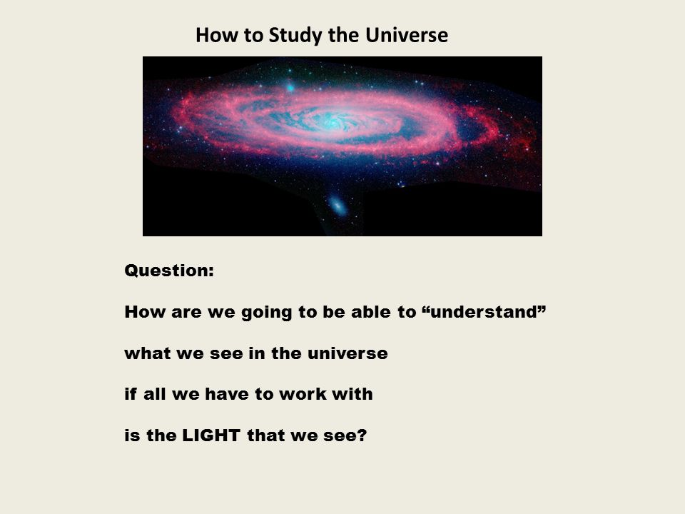 How to Study the Universe
