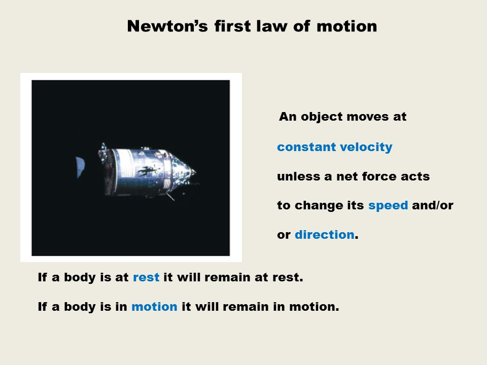 An object moves at Newton's first law of motion constant velocity