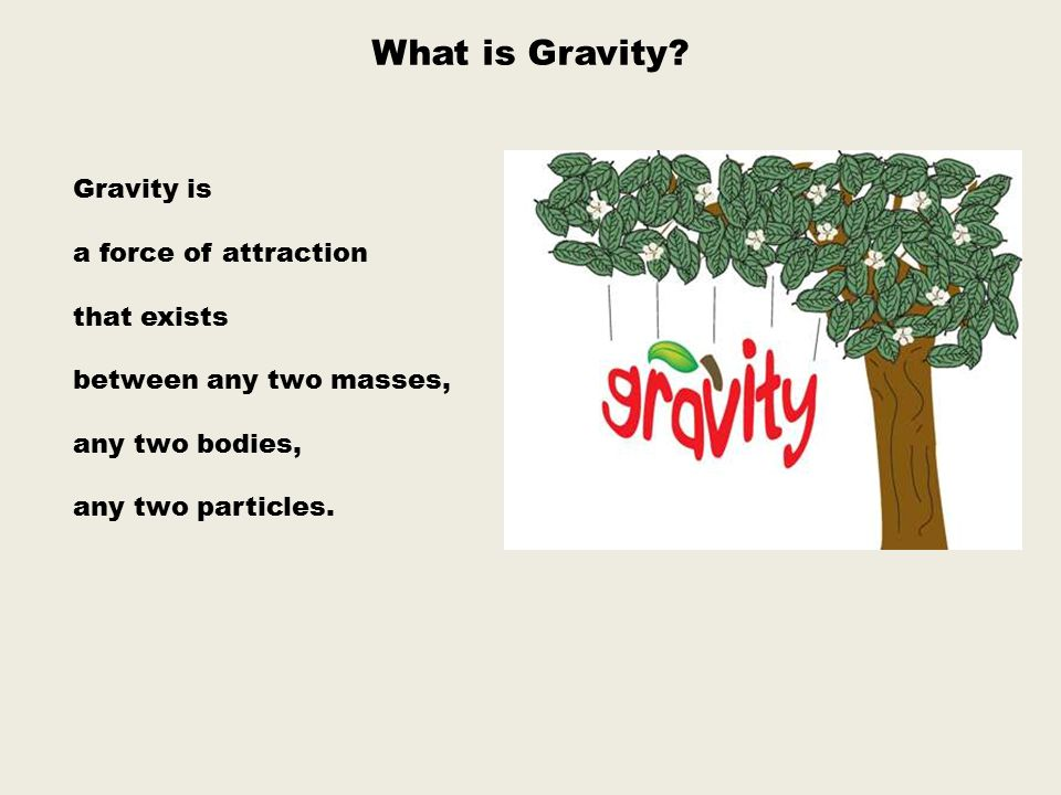 What is Gravity Gravity is a force of attraction that exists