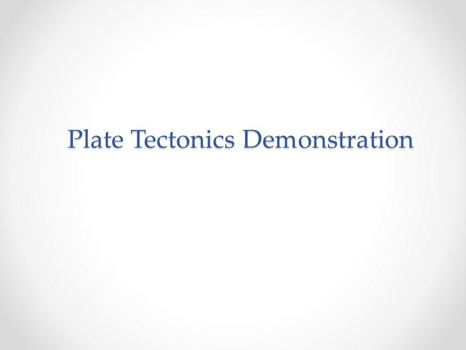 Plate Tectonics Demonstration