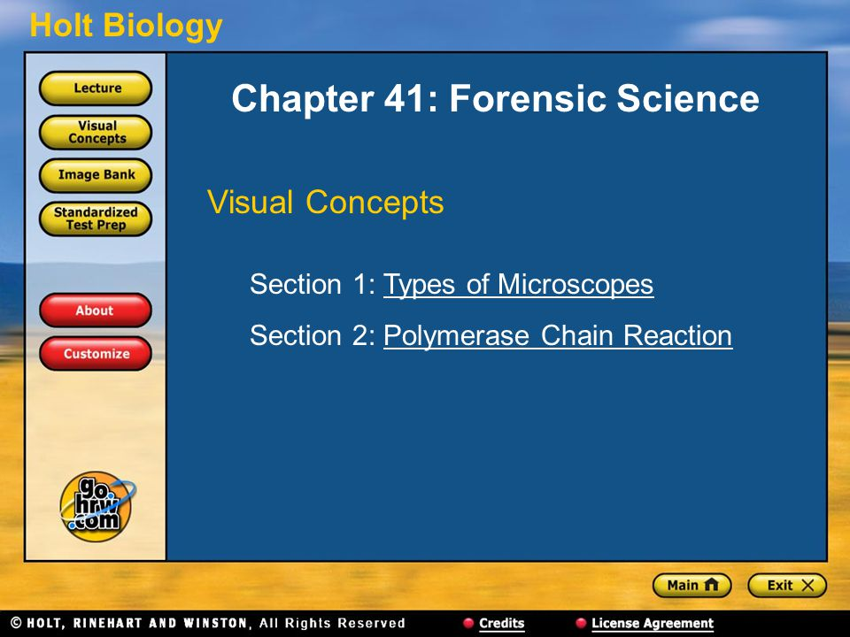Chapter 41: Forensic Science