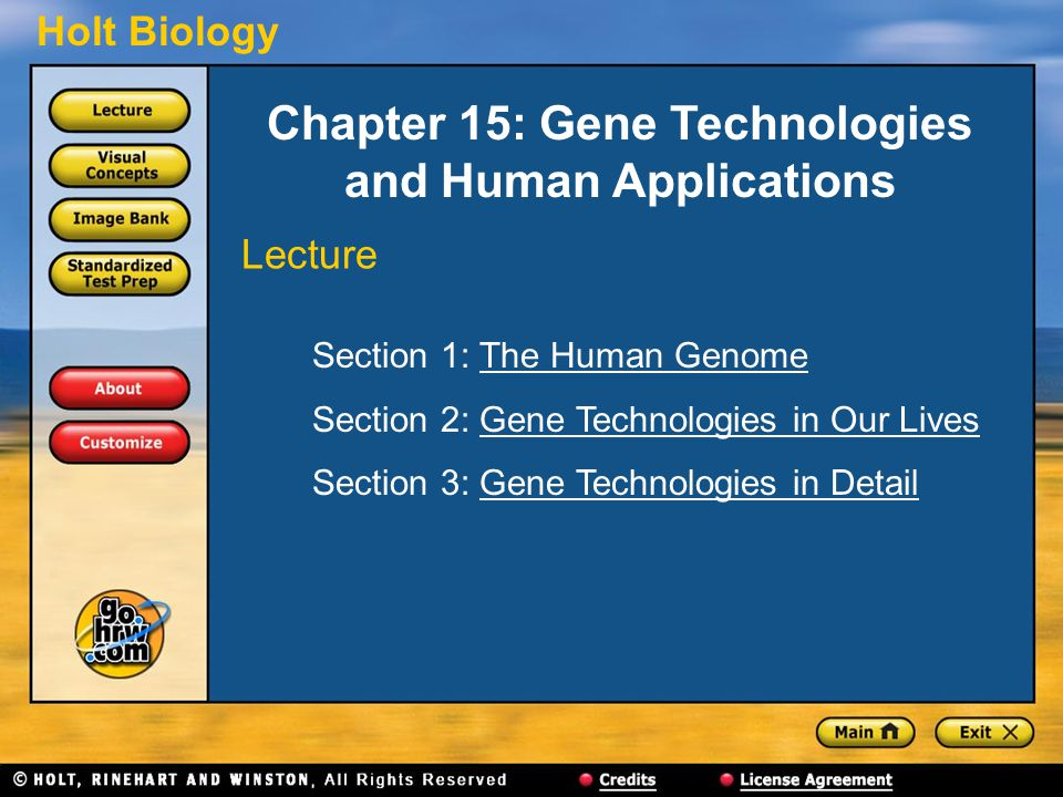 Chapter 15: Gene Technologies and Human Applications