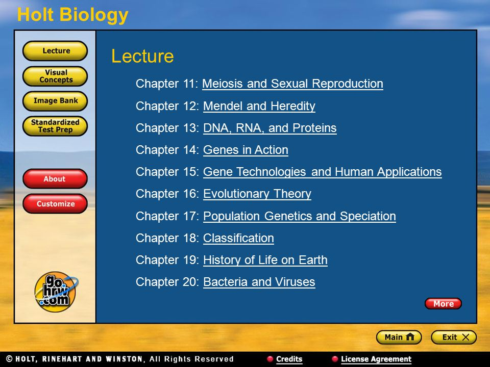 Lecture Chapter 11: Meiosis and Sexual Reproduction