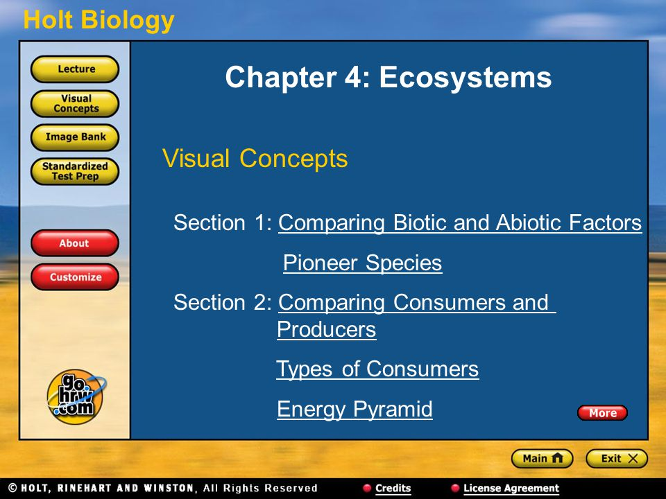 Chapter 4: Ecosystems Visual Concepts